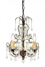Crystorama 4523-DR - Crystorama Paris Market 3 Light Dark Rust Mini Chandelier II