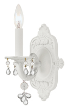Crystorama 5201-AW-CLEAR - Crystorama Paris Market 1 Light Murano Crystal White Sconce