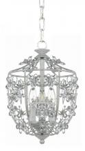 Crystorama 5303-AW - Crystorama Paris Market 3 Light Antique White Pendant
