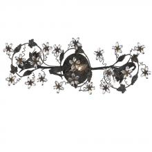 Crystorama 5304-DR - Crystorama Paris Market 3 Light Dark Rust Vanity Light